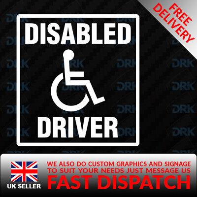 DISABLED KEEP CLEAR Blue Badge Car//Van//Truck//Bumper//Window Vinyl Sticker//Decal