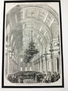 Russian-Royalty-Antique-Print-Coronation-Kremlin-Grand-Palace-St-Georges-Hall