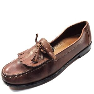 7bf3bb4a083 Image is loading Cole-Haan-Dwight-Saddle-Brown-Leather-Kiltie-Tassel-