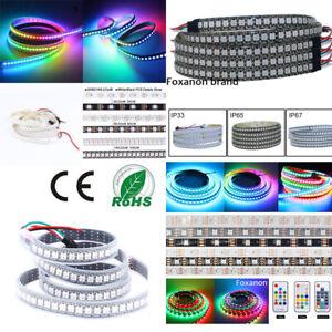WS2812B-5050-RGB-LED-Strip-Lights-5M-60-144-2M-150-300-Individual-Addressable-5V