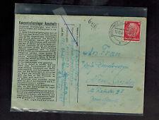 1940 Germany Auschwitz Concentration Camp Cover KZ Bogdan DmytrySzyn Neu Sandez