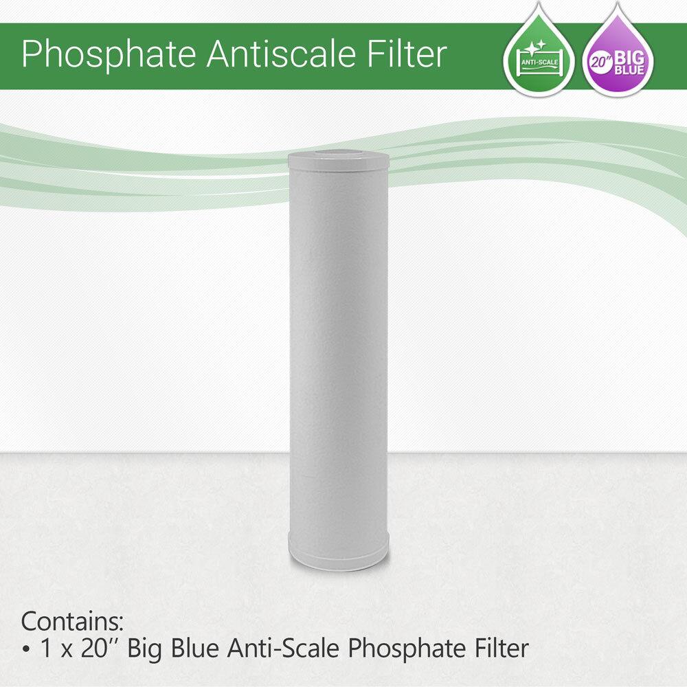 1x Max Water 20  Big Blau Anti-Scale Phosphate Filter