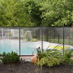Details about Swimming Pool Fence 4\' x 12ft Water Safety Barrier Removal  Able Above In-Ground