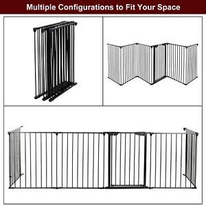 6pcs Steel Garden Fence Panels No Dig Edging Yard Fencing