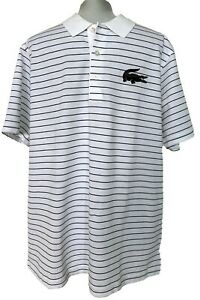 NEW-LACOSTE-SPORT-MEN-039-S-STRIPED-POLO-SHIRT-XL-100
