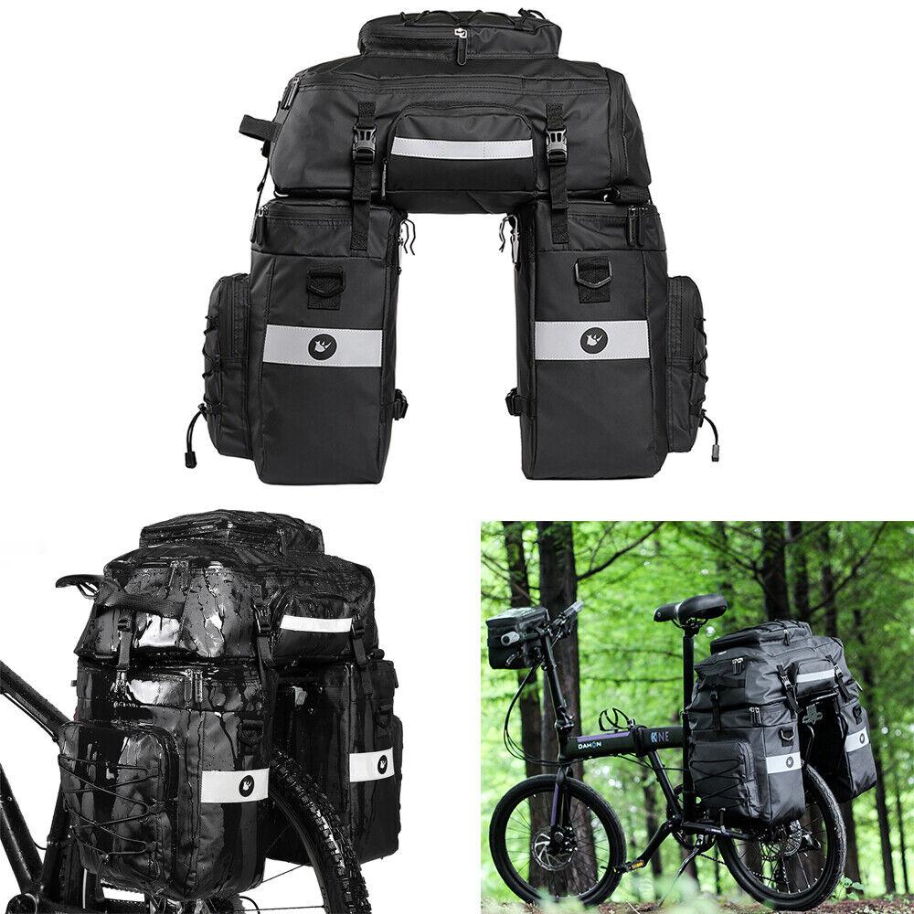 75L Cycling MTB Bike Bicycle Rear Seat Pannier Trunk Bag Pounch Handbag 3 in 1