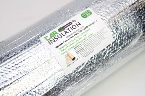 10m Double Foil Bubble Insulation 4mm Heat Reflective Thermal Roll Loft Roof UK