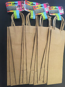 12x paper bottle bags wine bag gift wrapping brown paper bag craft