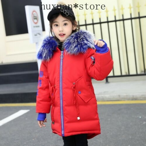2019 Winter down jacket for Girl clothes Thicken Warm Collar Hooded Long Padded