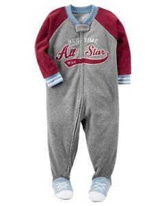 a71ff1342 Carter s Bedtime All-Star Sports Fleece Sleeper Pajamas Baby Boy 24 ...