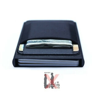 Men-Business-Cash-ID-Card-Holder-RFID-Blocking-Slim-Metal-Wallet-Coin-Purse