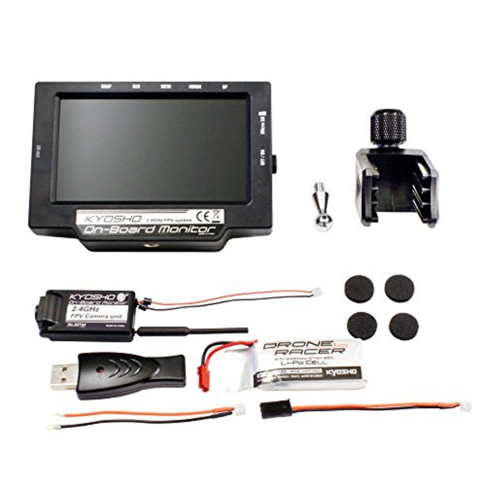 Kyosho a Bordo Monitor Batería & Cargador USB Radiocontrol FPV Sistema 82724bc