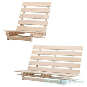 Image Is Loading Wooden Futon Base Frame 1 Seater Single And
