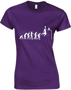 Evolution-of-Basketball-Sports-Jordan-inspired-Ladies-039-Printed-T-Shirt-Women