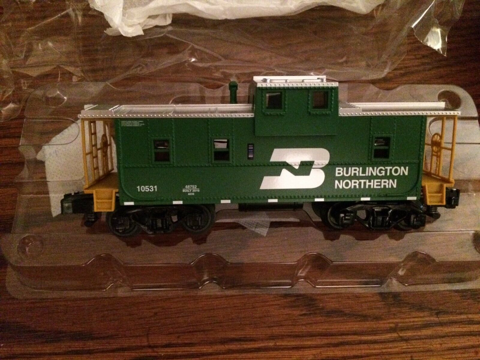 American Flyer 48752 Burlington Northern Extended Vision Caboose New in Box
