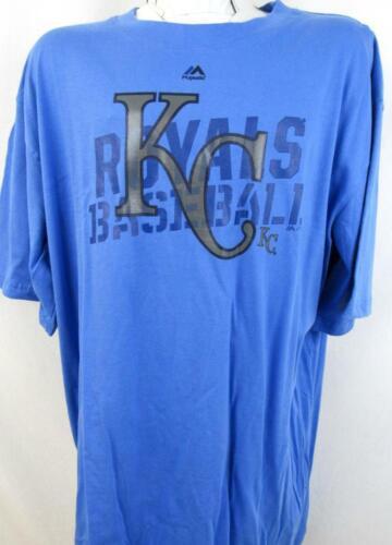 Kansas City Royals Big Mens 4X 5X XLT 2XT Short Sleeve Screened KC T-shirt KCR 7