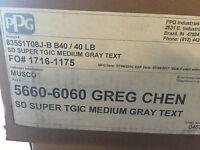 Ppg Powder Coating 40 Lbs, Medium Gray Text Sd Super