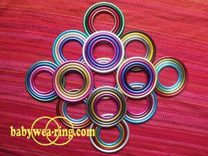 * Certified Aluminium Rings pair For Baby Slings 4 Sizes - Nicerings