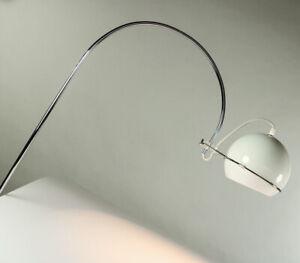 Wand-Bogen-Leuchte-Chrom-Acryl-Lese-Lampe-60er-70er-Vintage-GEPO-Niederlande