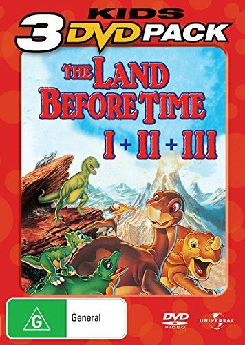 THE LAND BEFORE TIME 1 2 & 3 Trilogy Collection Film Boxset NEW DVD R4