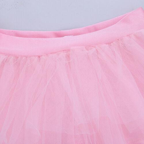 Kid Girl Ballet Gymnastics Dance Dress Skirted Shorts+Sequins Crop Top Dancewear