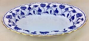 Copeland-Spode-Blue-Colonel-Open-Vegetable-Bowl-Bone-China-England-Floral