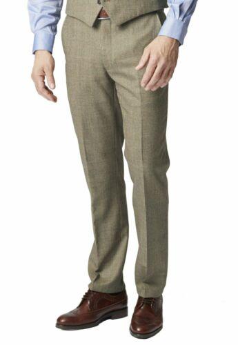 Brook Taverner Hommes Tennyson 100/% laine Pays Carreaux Costume Pantalon Pantalon