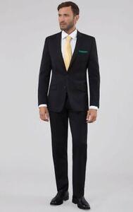 Details about Umberto Bocci Mens Black Slim Fit Suit Jacket Size 44 Trouser  Size In Descriptio