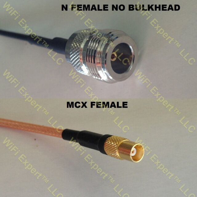 USA-CA RG316 DS MCX MALE to SMA FEMALE Coaxial RF Pigtail Cable