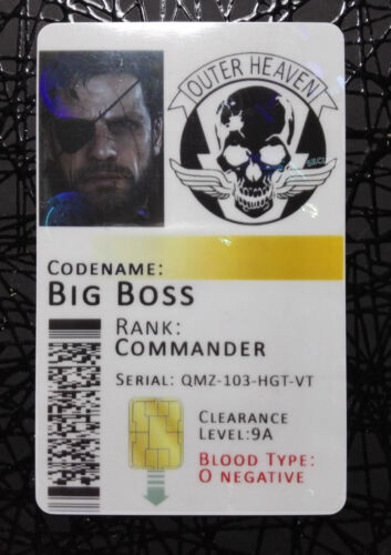 Metal Gear Solid Outer Heaven Novelty ID Badge Card **Customisable HOLOGRAM**