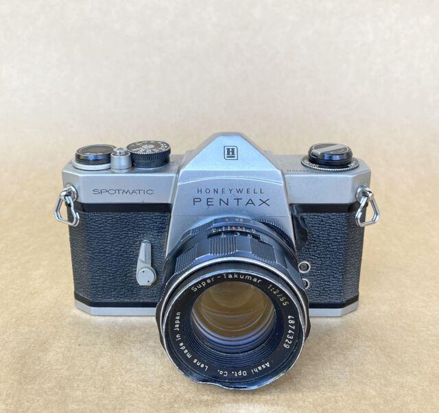 Honeywell Pentax Spotmatic 35mm SLR Film Camera W/ 55mm F2 Lens, Vintage!