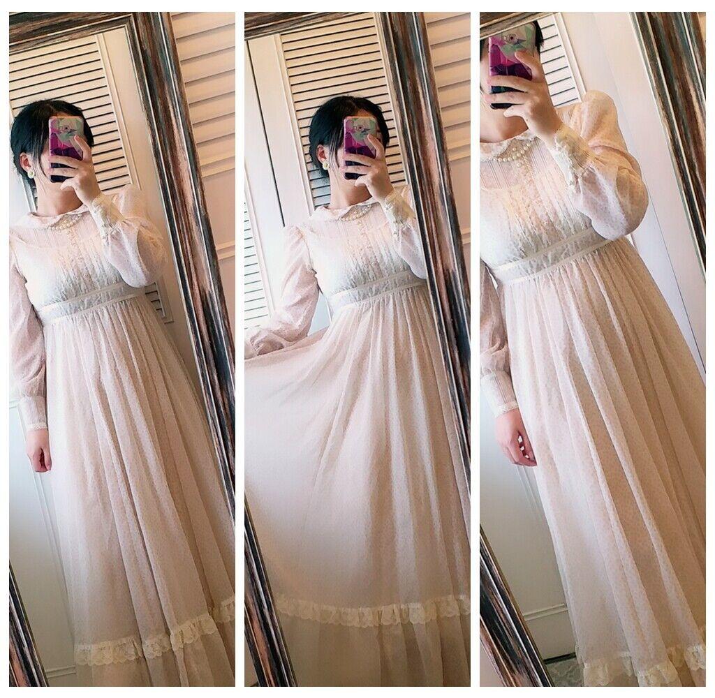 ASIS RARE vintage GUNNE SAX floral  Prairie dress… - image 2