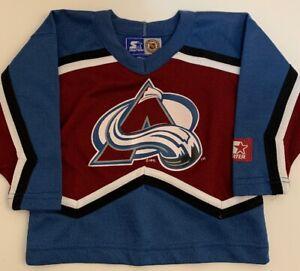 Vintage-Starter-Patrick-Roy-Colorado-Avalanche-NHL-Hockey-Jersey-Boys-Size-S