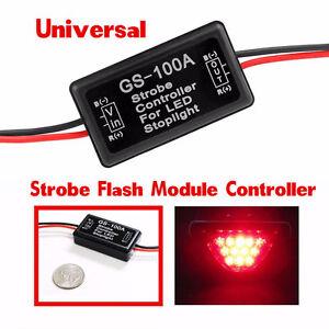 Details about Automotive Car Truck 3rd Brake Light Strobe Flash Control  Module GS-100A 12-16V