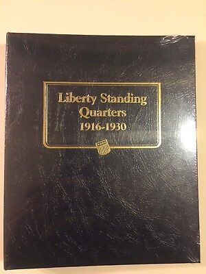 Whitman Classic Coin Album # 9121 For Liberty Standing Quarters From 1916-1930