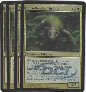 TCG-74-MtG-Magic-the-Gathering-Spriessendes-Thrinax-Gateway-Promo-Playset-4