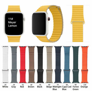 Magnetic Leather Loop Strap Band For Apple Watch Series 6 5 4 3 2 1 Se 40 44mm Ebay