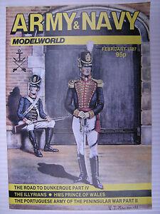 Ambitieux Army Et Bleu Marine Modelworld - Fév 1987 - Military Modeller Magazine & ArôMe Parfumé