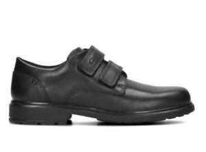BNIB Clarks Originals Boys Desertlnd Black Leather Shoes School Shoes G Fitting