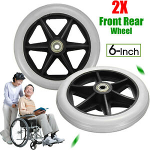 2-Replacement-Parts-6-039-039-Front-Rear-Wheel-for-Wheelchair-Rollator-Walker-C46
