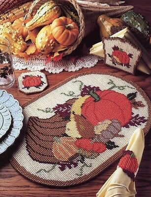 Thanksgiving Fall Place Mat Set Plastic Canvas Pattern   30 Days To Shop ...