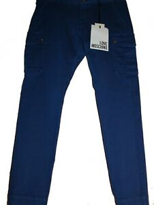 Love-Moschino-Blue-Electric-Mens-Cargo-Pants-Jeans-Size-US-36-EU-52-NEW