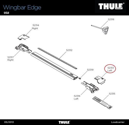 958 Cache gauche pour WINGBAR Edge Cover LH Edge