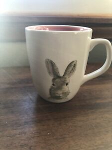 Rae-DunnArtisan-Collection-by-Magenta-Easter-Bunny-Mug-034-happy-easter-034-Pink-inner