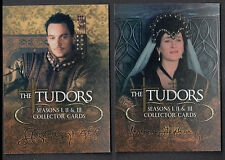 ALBUM BINDER PROMO CARD SET: THE TUDORS SEASONS 1-3 (BREYGENT/2011) 1 & 2