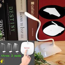 USB Rechargeable Touch Sensor Cordless LED Light Desk Table Reading Lamp-White X