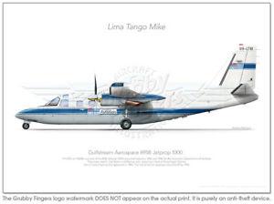 Aero-Commander-695B-VH-LTM-DoA-1984-A3-Profile-Print