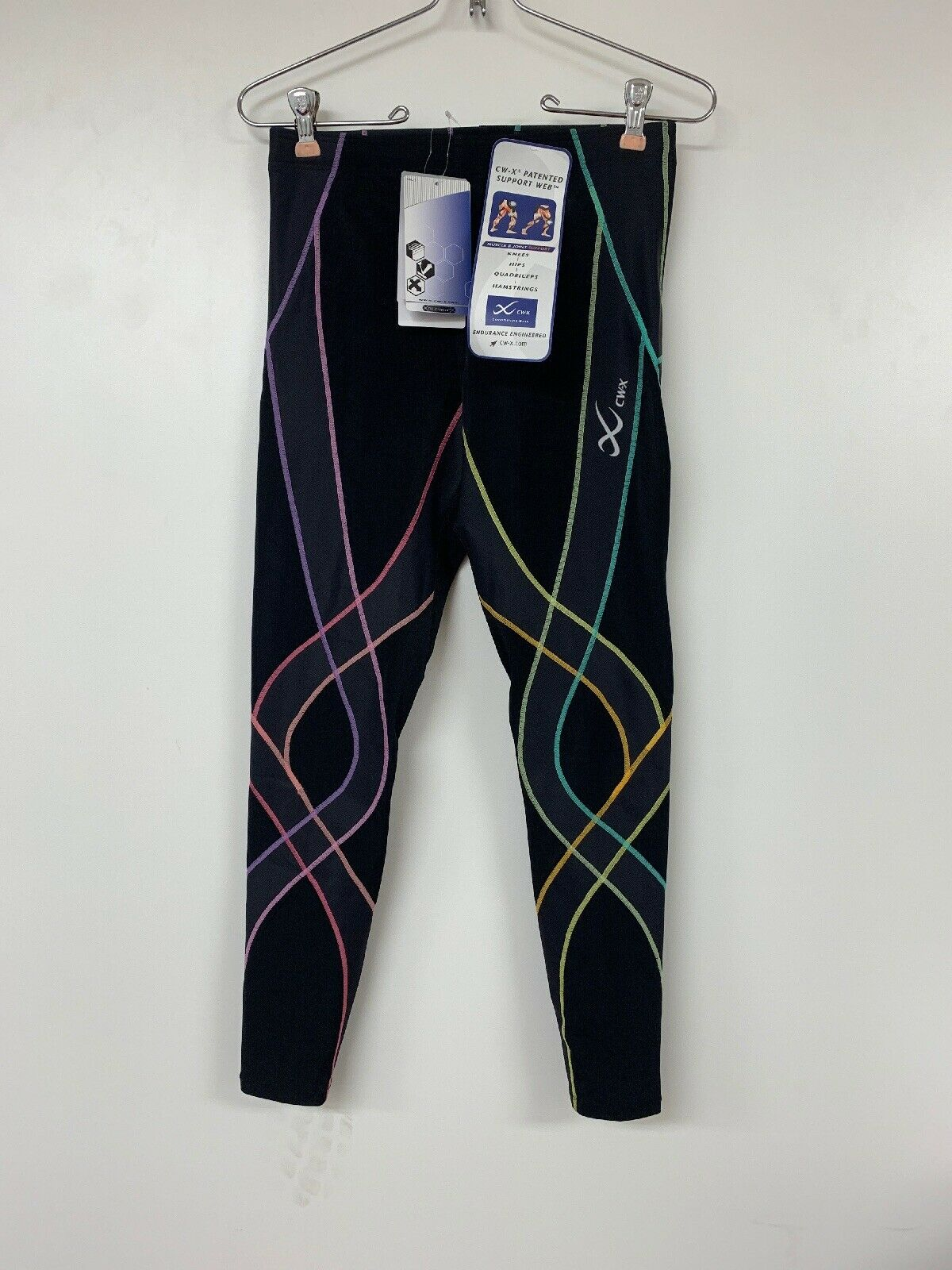 CWX donna's Mid Rise Full Length Stabilyx Compression Legging Tights Med New