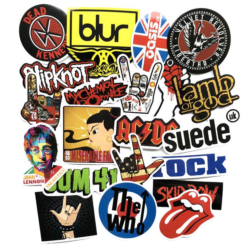 52pcs Rock Music Band Sticker Musicians Park Decal
