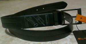 Ben-Sherman-Mens-Black-Reversible-Leather-Belt-BNWT-Medium